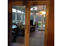 UPVC French doors - white