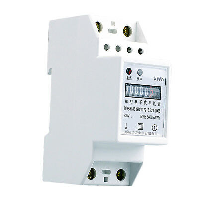 Din Rail Energy Power Kilowatt Hour Meter 1 Phase 2 Wire Kwh Meter 2080a