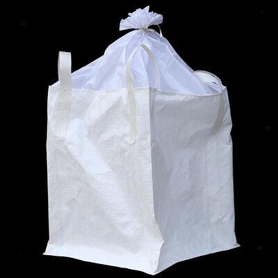 1 Tonne FIBC Bulk Bag Builders Landscape Bag Rubble Waste Sack Top Closed