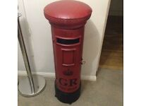 Red post box shelf unit