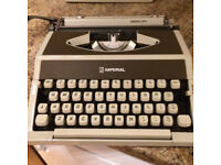 Imperial Typewriter complete with cover