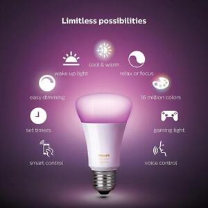 Philips Hue White and Colour Ambiance A19 Starter Kit  4-Pack - BRAND NEW SEALED