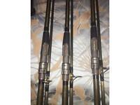 Carp rods x3 Nash rods