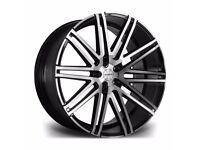 "x4 22"" Riviera Rv120 Alloy Wheels Range Rover Sport Vogue Discovery Black Polish"