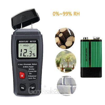 Lcd Display Digital Wood Moisture Meter Humidity Tester 2 Pins Probes 0-99.9 Us