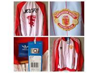 Manchester United Adidas Track Top Jacket new in bag Man Utd retro