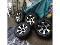 4x4 alloy wheels and spacers for sale.