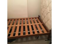 Double Bed Frame (+ optional mattress)