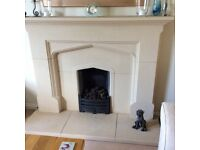 Stone Fireplace surround and hearth