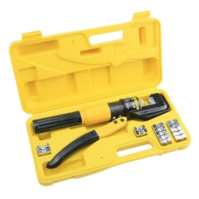Hydraulic Crimper Crimping Toolw Dies Wire Battery Cable Lug Terminal 8 Ton