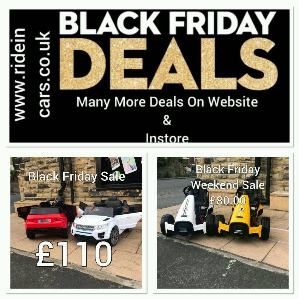 Black Friday Kids Ride On Cars 12v 24v From 100 Paal Remote Self Drive Bradford