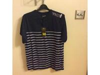 Henleys men's navy tshirt size medium brand new