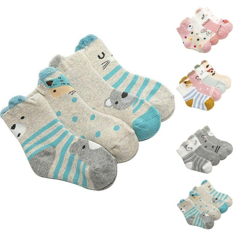 Baby Socks Boys Girls Autumn Winter Cute Warm Sock Soft Slip