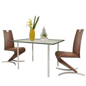 Brown Artificial Leather Cantilever Chair with H-shape(SKU241300) Mount Kuring-gai Hornsby Area Preview