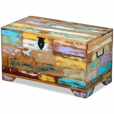 vidaXL Solid Reclaimed Wood Storage Chest Box Trunk Coffee Side Couch - Painted Wood Storage