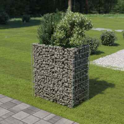 vidaXL Gabion Planter Galvanised Steel 90x50x100cm Stone Basket Raised Bed