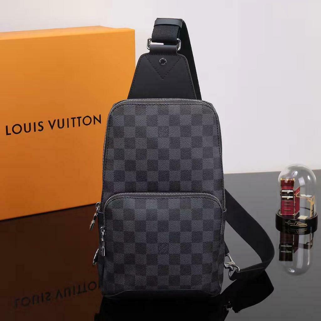 ed6106adb6028 Louis Vuitton Sling Pouch Leather Bag