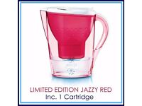 NEW BRITA Marella Jazzy Red 2.4L Water filter Jug with 1 MAXTRA Cartridge POST or COLLECT