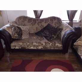 DFS Three Seater and Two Seater Sofa Set