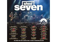 2x Shed Seven standing tickets, Manchester Academy, Friday 22nd December 2017