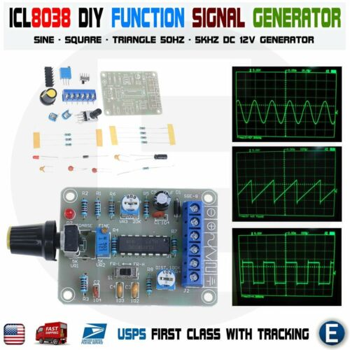 ICL8038 DIY Monolithic Function Signal Generator Sine Square Triangle 50-5KHz US