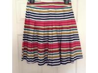 Joules multi-coloured striped skirt -Size 8