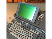 Vintage AMSTRAD PPC640 Portable(!) Computer Full Working, Manual, Carry Case, PSU, adapter, extras