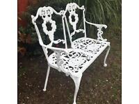 Vintage garden love bench