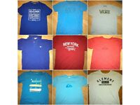 T-shirts Variety. Tommy Hilfiger, Ralph Lauren, La coste, Hollister, Vans...