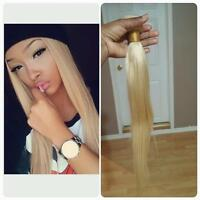 Blonde human Hair extensions on sale