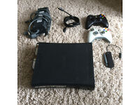 Xbox 360 120gb with 2 controllers and wifi dongle