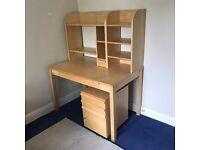 Computer desk w/ filing cabinet