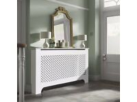 RICHMOND LARGE WHITE PAINTED RADIATOR COVER (RRP £80)