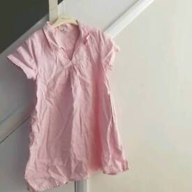 Petit Bateau pink cotton dress age 6