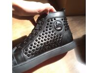 Christian Louboutins Spiked Trainers Black
