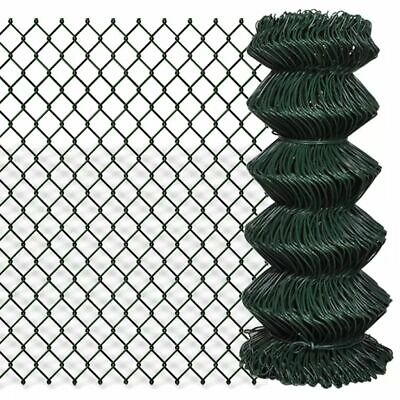 Chain Fence Mesh Galvanised Wire Chicken Coop Aviary Hutch Green PVC