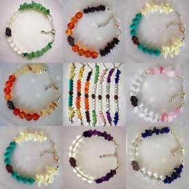 Handmade Buddha Charm Gemstone Bracelets