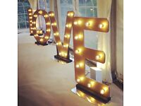 Large light up LOVE letters to hire