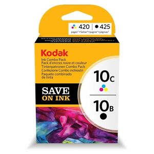 Original New Kodak 10 Combo Pack Ink Cartridges 3949948 1xBlack and 1xTri-Colour