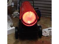 space heater garage heater diesel kerosene parrafin shed workshop 30 kw output industrial heater