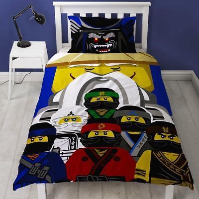The Lego Ninjago Movie 'Guru' Single Panel Duvet Quilt Cover Bed Set Kids New