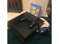 playstation 4 500gb fifa 17 and headset