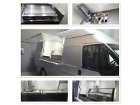 Catering van conversions or fully equipped vans ready to work.