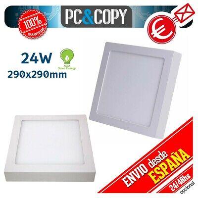 R1130 Plafon Techo Panel LED Superficie 24W Luz Blanca Cuadrado 290mm Downlight