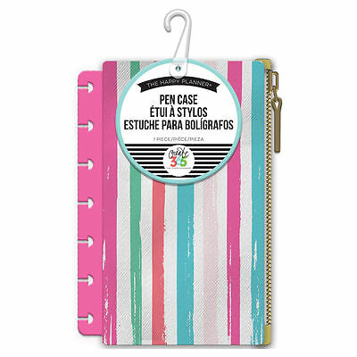 Create 365 The Mini Happy Planne Snap In Pen Case   Pink Painted Stripe