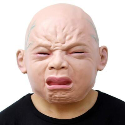Fancy Dress Cry Baby Crying Head Halloween Party Mask Latex Cosplay Costume](Baby Head Costume)