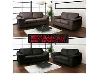 Faux Leather Amy 3 & 2 Sofa