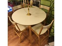 Dining set, table and 4 chairs IKEA
