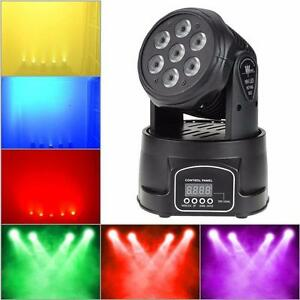 DJ and stage Light New Island 70W 7 LED RGBW Rotating Moving Head DJ Party Stage Effect Light 9/14 Channel DMX512