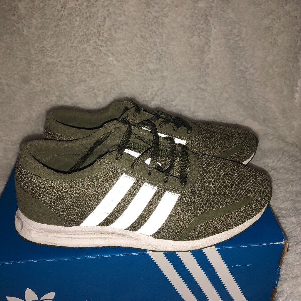 Adidas womens original green trainers size 4